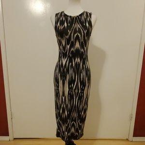 Apt.9 Bodycon Ikat Print Midi Dress